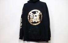 金文字パーカー(黒)