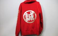 金文字パーカー(赤)